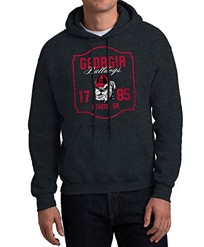 Elite Fan Shop Georgia Bulldogs Hooded Sweatshirt Varsity Charcoal Team - X-Large - Charcoal Gray