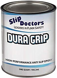 Non-Slip Textured Paint, Barefoot & Pet Friendly to Reduce Slip and Falls. Commercial & Residential Use. Dura Grip (Safety Yellow, Quart)
