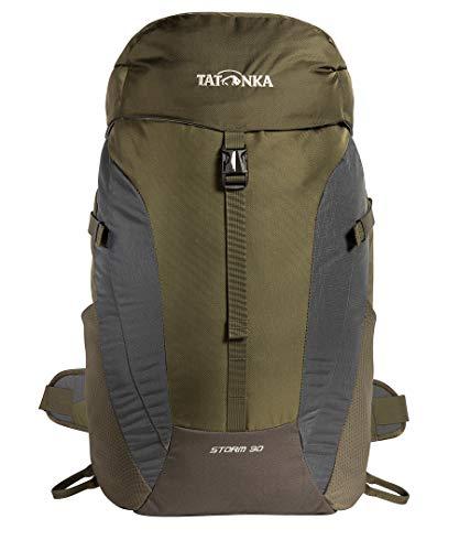 Tatonka Storm 30 Sac à dos de randonnée avec aération dorsale et housse de pluie pour homme et femme 30 l, Mixte - Adulte, Sac à dos pour randonnée, 1533, olive, Taille unique