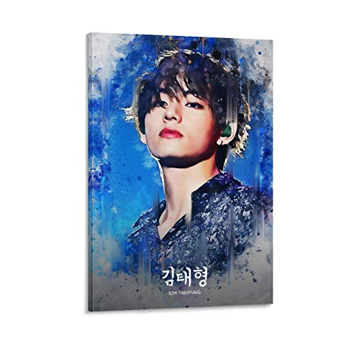ZHIYONG BTS Group Poster Kim Taehyung Canvas Art Poster and Wall Art Picture Print Modern Family Bedroom Decor Posters 12x18inch(30x45cm)
