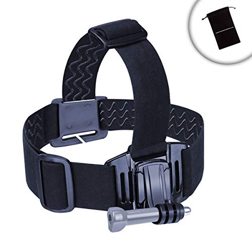 USA Gear Compact Camera Head Strap Mount with Elastic Stretch-Fit, J Hook Action Mount Adapter & Tripod Screw - Compatible with Fujifilm FinePix, Nikon Coolpix, Olympus Tough and More
