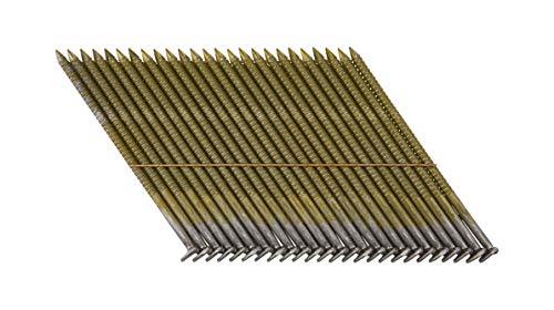 Dewalt D-Kopf-Nägel (drahtgebunden, Ringschaft, 34°, Nutzungsklasse 1, Durchmesser 3.10 mm, 90 mm Länge, passend fürDewalt Akku-Nagler, 2.200 Stück) DNW31R90E