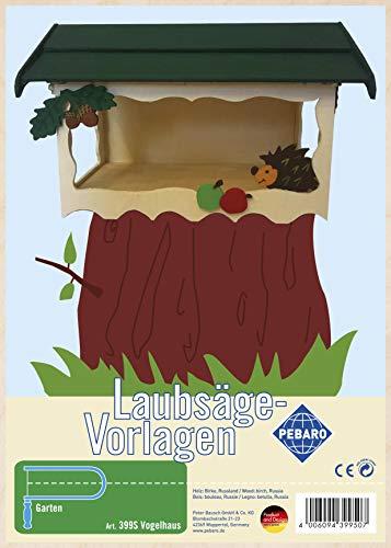 Pebaro 399S Laubsägevorlage aus Sperrholz Motiv Vogelhaus I, Holz, DIN A4