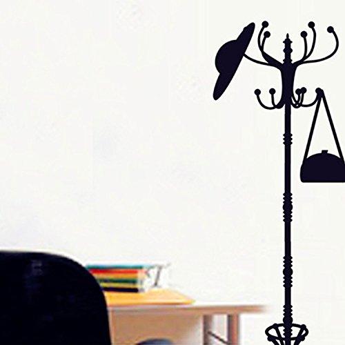 Liwendi Perchero Negro Perchero De Árbol Calcomanías De Pared Pegatinas Decoración Del Hogar Vinilo Arte 50 Cm * 70 Cm