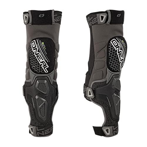 O\'NEAL | Knieprotektor | Motocross Enduro | Knie-IPX®-Polyurethan, ergonomische Passform, belüftete Hartschalen-Abdeckung | Sinner Hybrid Knee Guard | Erwachsene | Schwarz Grau | Größe XXL