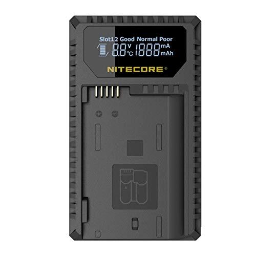 Nitecore UNK1 Dual-Slot-USB-Ladegerät mit LCD-Display für Nikon EN-EL14 / EN-EL14a / EN-EL15