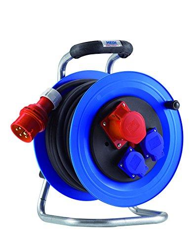 HEDI K2YD2516T2 Drehstrom-Kabeltrommel, 400 V, blau, schwarz
