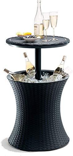 Koll Living Lisa-koelbox/bijzettafel, voor 24 uur-Im, zomer, koude dranken, functioneel tafeltje, coolbaar, antraciet