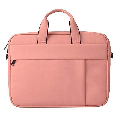 Yxxc Universal Handbag DJ03 Waterproof Anti-scratch Anti-theft One-shoulder Handbag for 13.3 inch Laptops, with Suitcase Belt(Black) (Color : Pink)