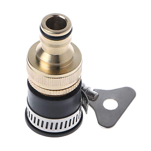 FUNCOCO Adaptador de Grifo, 1 Pieza 1/2'3/4' Adaptador de Grifo de latón Universal Accesorios de Manguera Adaptador de Grifo de Agua Conector de Manguera de riego de jardín
