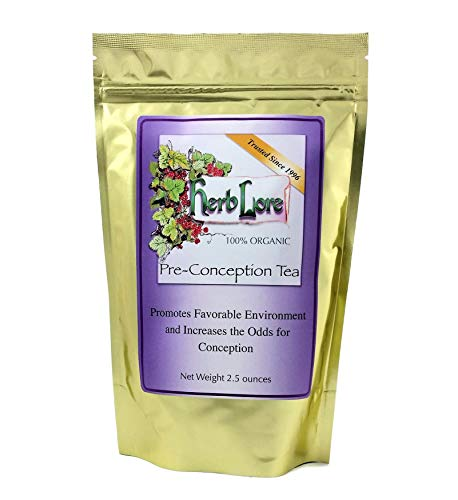 Fertility Tea for Women - 60 Cups - Herb Lore Loose Leaf Pre Conception Tea - Fertility Cleanse with Red Raspberry Leaf - Natural Fertility Detox and Cervical Mucus Enhancer