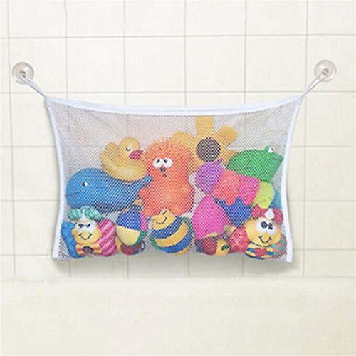 Organizers for Bathroom Baby Bath Bathtub Toy Holder Storage Net Mesh Bag Organizer with 4 Removable Suction Cups