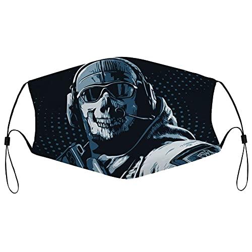 Best-design Call of Duty Máscara de borde negro para adultos, protección facial portátil, bandana, borde elástico, pasamontañas