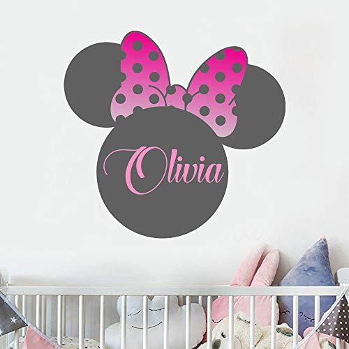 Personlized Sticker mural Minnie Mouse Decel pour fille Motif Minnie Mouse