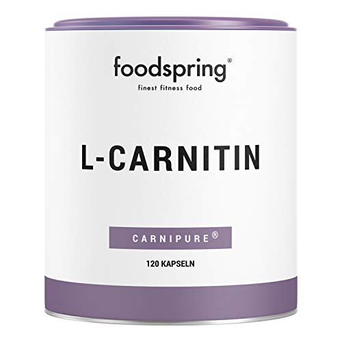 foodspring L-Carnitin Kapseln, 120 Stück, Vegan, Ideal für das Figur-Training mit 1000mg Carnipure pro 100g
