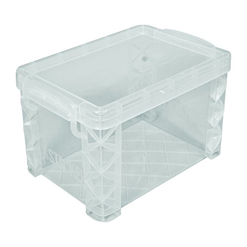 Advantus Super Stacker 4 x 6 Index Card Box, Clear, 1 Box, 40305