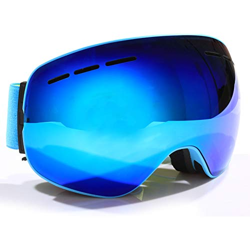 ADXD skibril, magneten grote sferische skibril dubbele lens anti-mist verwisselbare lenzen bril Unisex-12 kleuren
