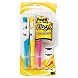 Post-it 689-HL3 Flags and Highlighters, Chisel Tip, Assorted Colors, 3 Highlighters/Pack