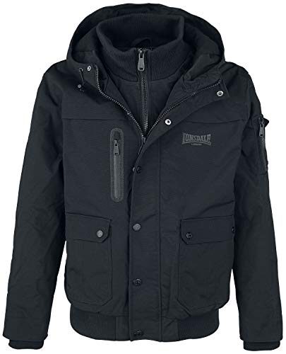 Lonsdale London Herren HILLBRAE Men Winterjacket, Black, M