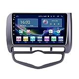 Android 10.0 Car Stereo per Honda Jazz 2004-2007 Autoradio AM FM 9 Pollici IPS Touch Screen Navigazione GPS con Controllo Wi-Fi BT,1+16G