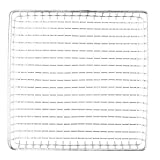 G.E.T. Enterprises Stainless Steel Metal Rectangular Wire Serving Tray Stainless Steel Wire Baskets Collection 4-83599 (Pack of 1)