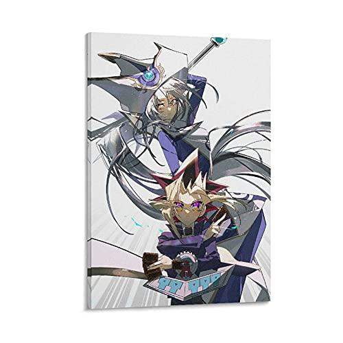 Poster Yu-Gi-Oh Duel Monsters Poster, Mutou Yuugi, Silenzioso Mago Poster Stampa su Tela 50 x 75 cm
