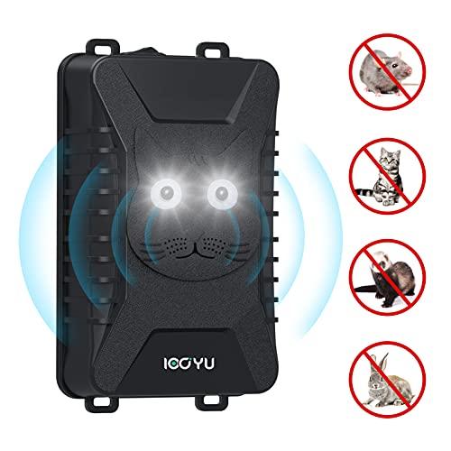IOOYU Repelente Ultrasónico de Ratones Coche, Ahuyentador de Ratas y Destellos Dobles para Protege el Motor del Coche, para Garaje contra la comadreja, Ratas Visones, con Cable USB