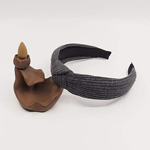 TSEINCE Vrouwen hoofdband gedraaid haarband strik fluwelen hoofdband haarband hoepel effen kleur gebreide retro wide neck masker haarspeld