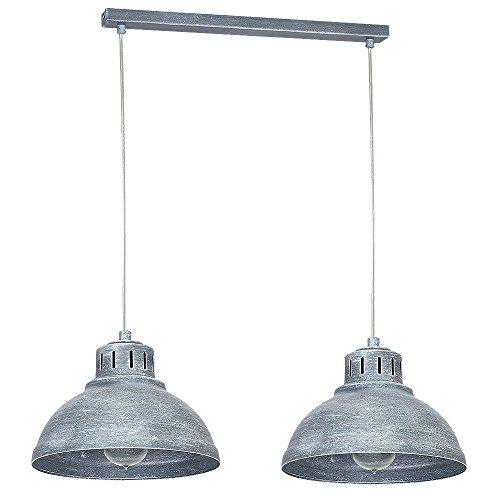 Hängeleuchte 2-flammig Pendel-Lampe im Vintage-Look rustikale Beton-Optik im Industrie-Stil 2x E27 bis 60W wechselbar Leuchte Innen Decke