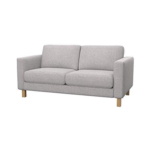 Soferia Ersatzbezug fur IKEA KARLSTAD 2er-Sofa, Stoff Naturel Lilly Beige, Beige