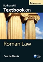 Borkowski's Textbook on Roman Law by Paul du Plessis (2010-07-29)