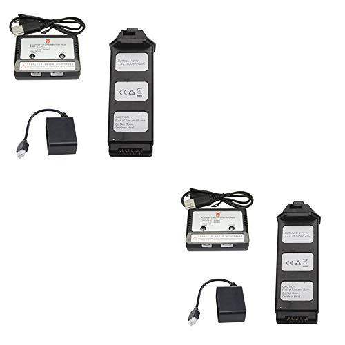 FairOnly MJX Bugs 5W B5W Quadcopter RC Recambios de Repuesto 7.4V 1800mAh Lipo batería + Cargador + Adaptador de Carga