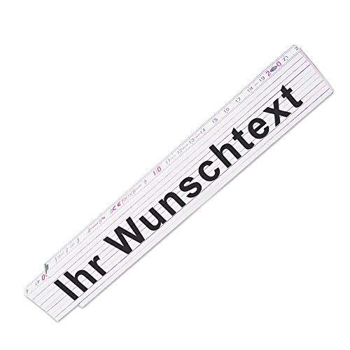 Zollstock mit Wunsch-Text |Glieder-Maßstab personalisiert | Meterstab individuell bedruckt