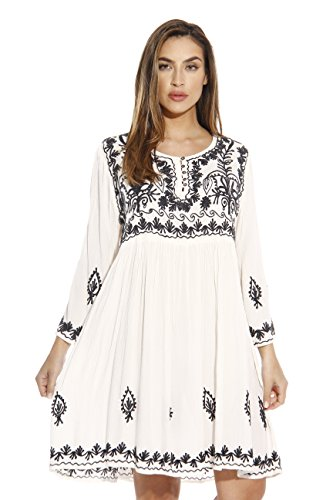 Riviera Sun Tunic Dresses for Women 21643-WHITE-1X