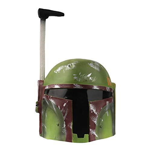 ZARQ Mandalorian Helm, Latex Boba Fett Helm Deluxe Integralhelm Kopfbedeckung Film Rollenspiel Sammler Kostüm Party Cosplay Kostüm Requisiten für Erwachsene Kinder