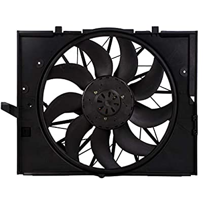 MYSMOT Engine Cooling Fan Assembly For BMW E60 525 530 545 645, E65 750 17427543282,17427514181