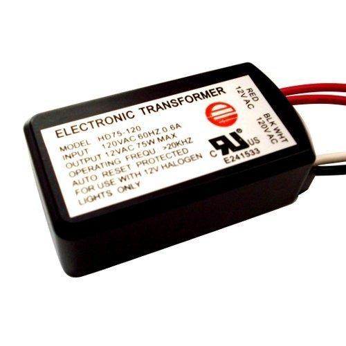 HC Lighting - Halogen/Xenon Electronic Transformer 75 Watt Max output 120 Volt Input / 12 Volt Out Put Potted Transformer