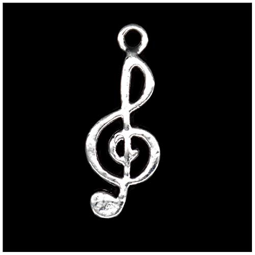Pack of 80 Musical Note Charms Pendants Silver Craft Supplies for Jewelry Making Tibetan Accessories for Bracelets Necklace DIY