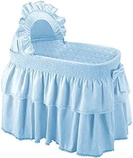 Babykidsbargains Paradise Rainbow Blue Bassinet Skirt and Hood, 13