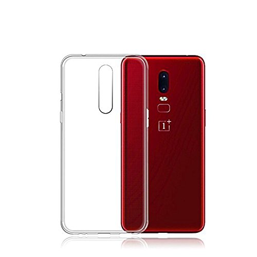 OnePlus 6 Case, TopACE TPU Rubber Gel Shock-Absorption Bumper Anti-Scratch Transparent Silicone Cover for OnePlus 6 (Clear)