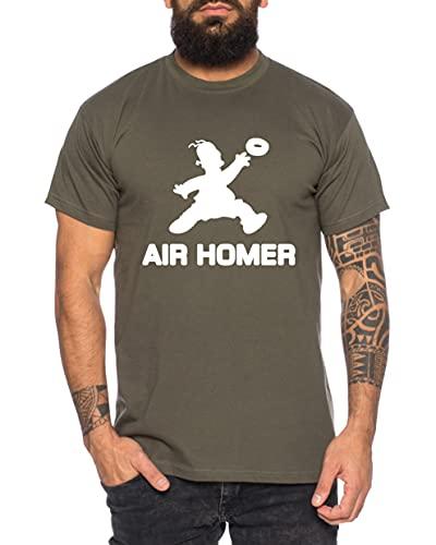 Air Homer T-Shirt pour Homme Cool Fun Shirt, Größe2:X-Large, Farbe2:Kaki