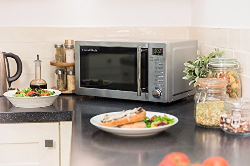Russell Hobbs RHM2031 20 L 800 W Stainless Steel Digital Grill Microwave with 5 Power Levels, 1000 W Grill Power…