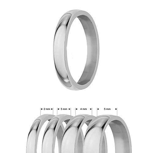 Treuheld® | Ring aus Edelstahl | Silber | Ringgröße 58 | Breite 4mm | Damen & Herren | glänzend | Freundschaftsring Verlobungsring Ehering
