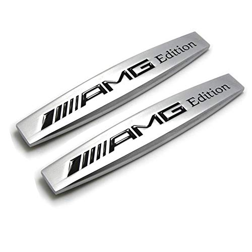DEMILLO Car Emblem Chrome Stickers Decals Badge Labeling for Mercedes Benz AMG