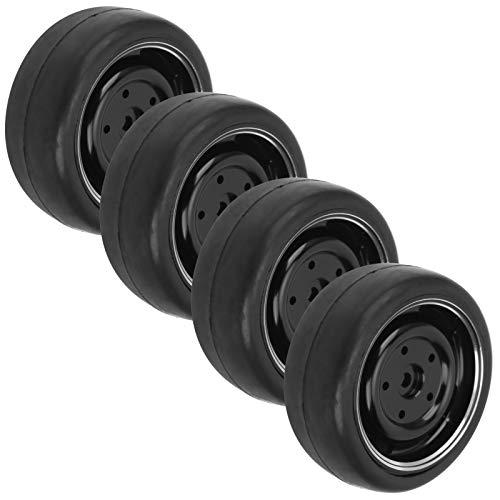 Llanta de rueda RC, juego de neumáticos RC Drift con amortiguación fuerte de 63 mm para camión de control remoto WPL D12 1/10 para coche de carreras RC 1/10 y coche de deriva