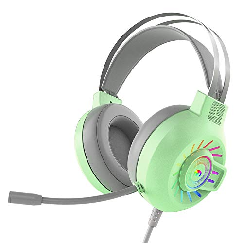 3,5 mm Stereo Surround Gaming Headset, Rainbow Fixed LED Backlit Wired Headset