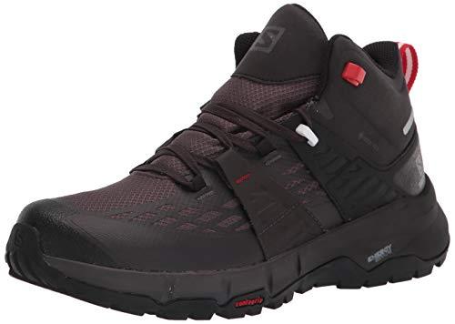 Salomon Men's Odyssey mid GTX Hiking, Black/Shale/High Risk Red, 11