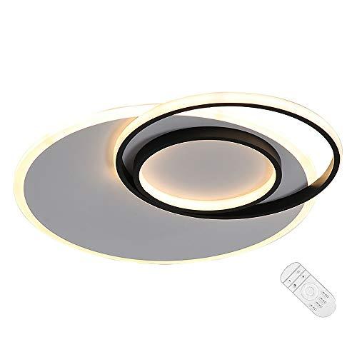 LED Lámpara Techo Moderna Redondo Ultradelgada Plafon de Techo Metal Protección Los Ojos Luz Interior con Control Remoto Ajustable Candelabro 3000K-6000K para Dormitorio Cocina Salón D50×H6CM,Blanco