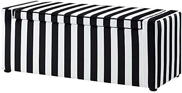Brika Home Velvet Upholstered Storage Shoe Bench In Black And White