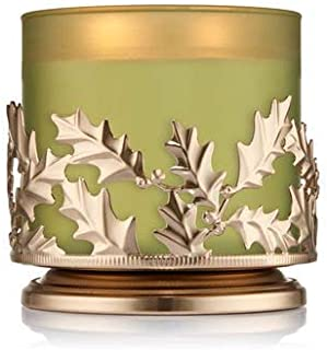 Bath & Body Works 3 Wick Candle Sleeve Holder Holly Jolly